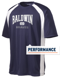 Baldwin Academy Braves Men's Dry Zone Colorblock T-Shirt
