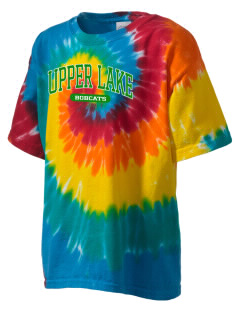 Upper Lake Elementary School Bobcats Kid's Tie-Dye T-Shirt