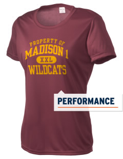 Madison 1 Middle School Wildcats Women's Competitor Performance T-Shirt