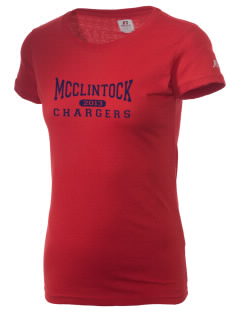 McClintock High School Chargers  Russell Women's Campus T-Shirt