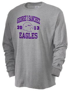 George I Sanchez Elementary School Eagles  Russell Men's Long Sleeve T-Shirt