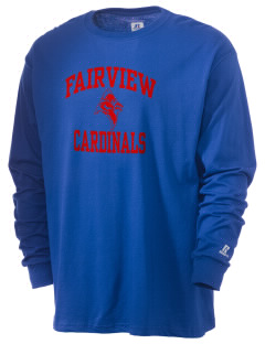 Fairview Middle School Cardinals  Russell Men's Long Sleeve T-Shirt