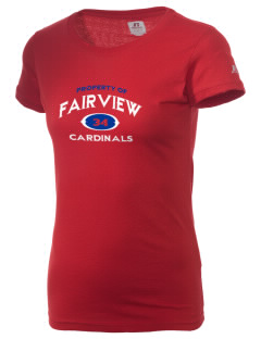 Fairview Middle School Cardinals  Russell Women's Campus T-Shirt