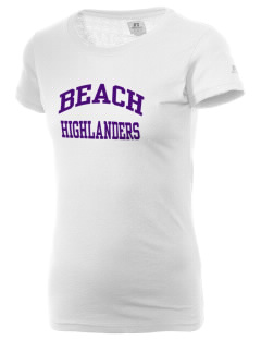 Beach Elementary School Highlanders  Russell Women's Campus T-Shirt