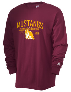 William Mendenhall Middle School Mustangs  Russell Men's Long Sleeve T-Shirt