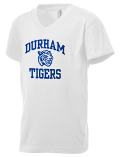 Durham Elementary School Tigers Kid's V-Neck Jersey T-Shirt