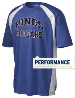 Pines Elementary School Cougars Men's Dry Zone Colorblock T-Shirt