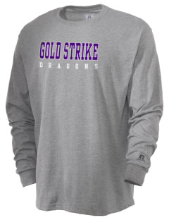 Gold Strike High School Dragons  Russell Men's Long Sleeve T-Shirt