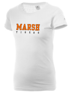 Marsh Elementary School Tigers  Russell Women's Campus T-Shirt