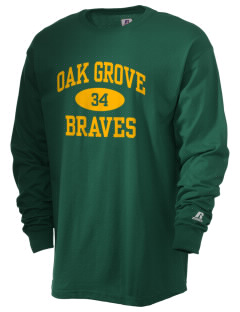Oak Grove Middle School Braves  Russell Men's Long Sleeve T-Shirt