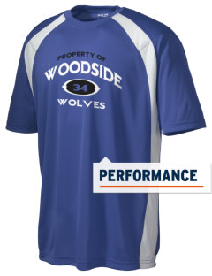 Woodside Elementary School Wolves Men's Dry Zone Colorblock T-Shirt