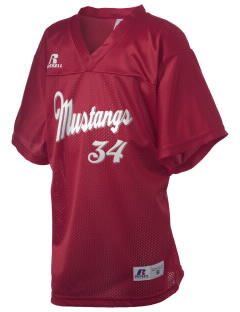 Alamo Elementary School Mustangs Russell Kid's Replica Football Jersey