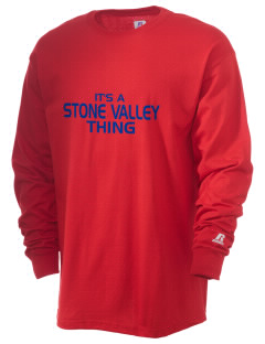 Stone Valley Middle School Pride  Russell Men's Long Sleeve T-Shirt