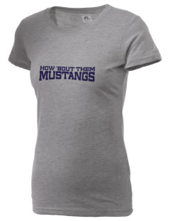Marina Village Intermediate School Mustangs  Russell Women's Campus T-Shirt