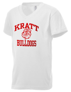 Kratt Elementary School Bulldogs Kid's V-Neck Jersey T-Shirt