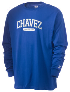 Chavez Elementary School Panthers  Russell Men's Long Sleeve T-Shirt