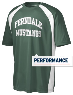 Ferndale Elementary School Mustangs Men's Dry Zone Colorblock T-Shirt