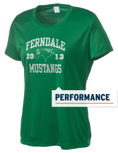 Ferndale Elementary School Mustangs Women's Competitor Performance T-Shirt