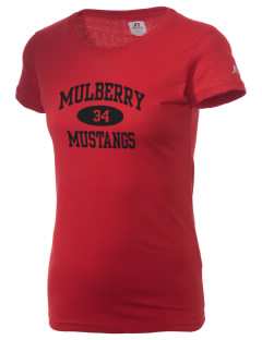 Mulberry Elementary School Mustangs  Russell Women's Campus T-Shirt