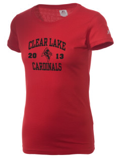 Clear Lake High School Cardinals  Russell Women's Campus T-Shirt