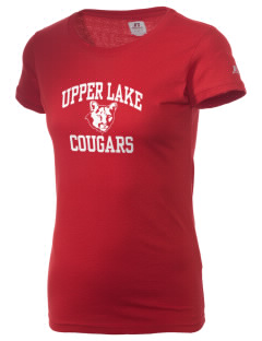 Upper Lake High School Cougars  Russell Women's Campus T-Shirt