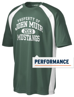 John Muir Middle School Mustangs Men's Dry Zone Colorblock T-Shirt