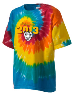 Live Oak Elementary School Leopards Kid's Tie-Dye T-Shirt