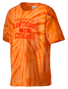 Hawthorne High School Cougars Kid's Tie-Dye T-Shirt
