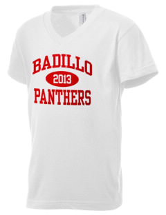 Badillo Elementary School Panthers Kid's V-Neck Jersey T-Shirt