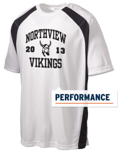 Northview High School Vikings Men's Dry Zone Colorblock T-Shirt