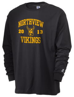 Northview High School Vikings  Russell Men's Long Sleeve T-Shirt