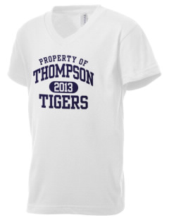 Thompson Elementary School Tigers Kid's V-Neck Jersey T-Shirt