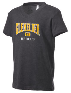 Glenelder Elementary School Rebels Kid's V-Neck Jersey T-Shirt