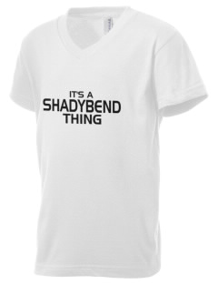 Shadybend Elementary School Panthers Kid's V-Neck Jersey T-Shirt