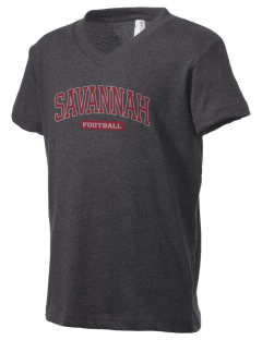 Savannah Elementary School Dolphins Kid's V-Neck Jersey T-Shirt