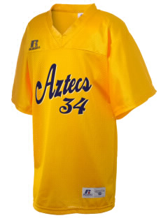 Fries Elementary School Aztecs Russell Kid's Replica Football Jersey
