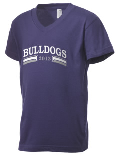 Middleton Street Elementary School Bulldogs Kid's V-Neck Jersey T-Shirt