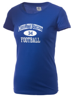 Middleton Street Elementary School Bulldogs  Russell Women's Campus T-Shirt