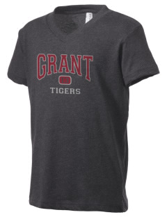 Grant Elementary School Tigers Kid's V-Neck Jersey T-Shirt