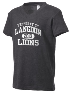 Langdon Elementary School Lions Kid's V-Neck Jersey T-Shirt