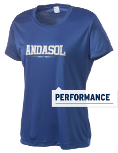 Andasol Elementary School Mustangs Women's Competitor Performance T-Shirt