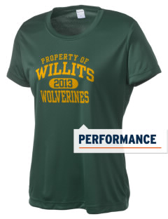 Willits High School Wolverines Women's Competitor Performance T-Shirt