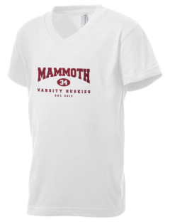 Mammoth High School Huskies Kid's V-Neck Jersey T-Shirt