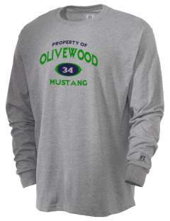 Olivewood Elementary School Mustang  Russell Men's Long Sleeve T-Shirt
