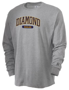 Diamond Elementary School Eagles  Russell Men's Long Sleeve T-Shirt