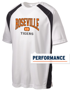 Roseville High School Tigers Men's Dry Zone Colorblock T-Shirt