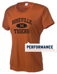 Roseville High School Tigers Women's Competitor Performance T-Shirt