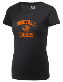 Roseville High School Tigers  Russell Women's Campus T-Shirt