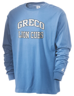 Greco Middle School Lion Cubs  Russell Men's Long Sleeve T-Shirt