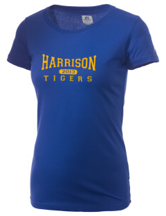 Harrison Elementary School Tigers  Russell Women's Campus T-Shirt
